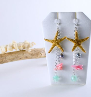Skinny Pig Signature Collection Genuine Starfish Earrings
