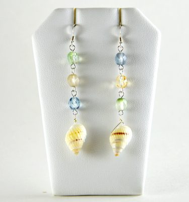 Sandy Beach Collection Cone Seashell Earrings