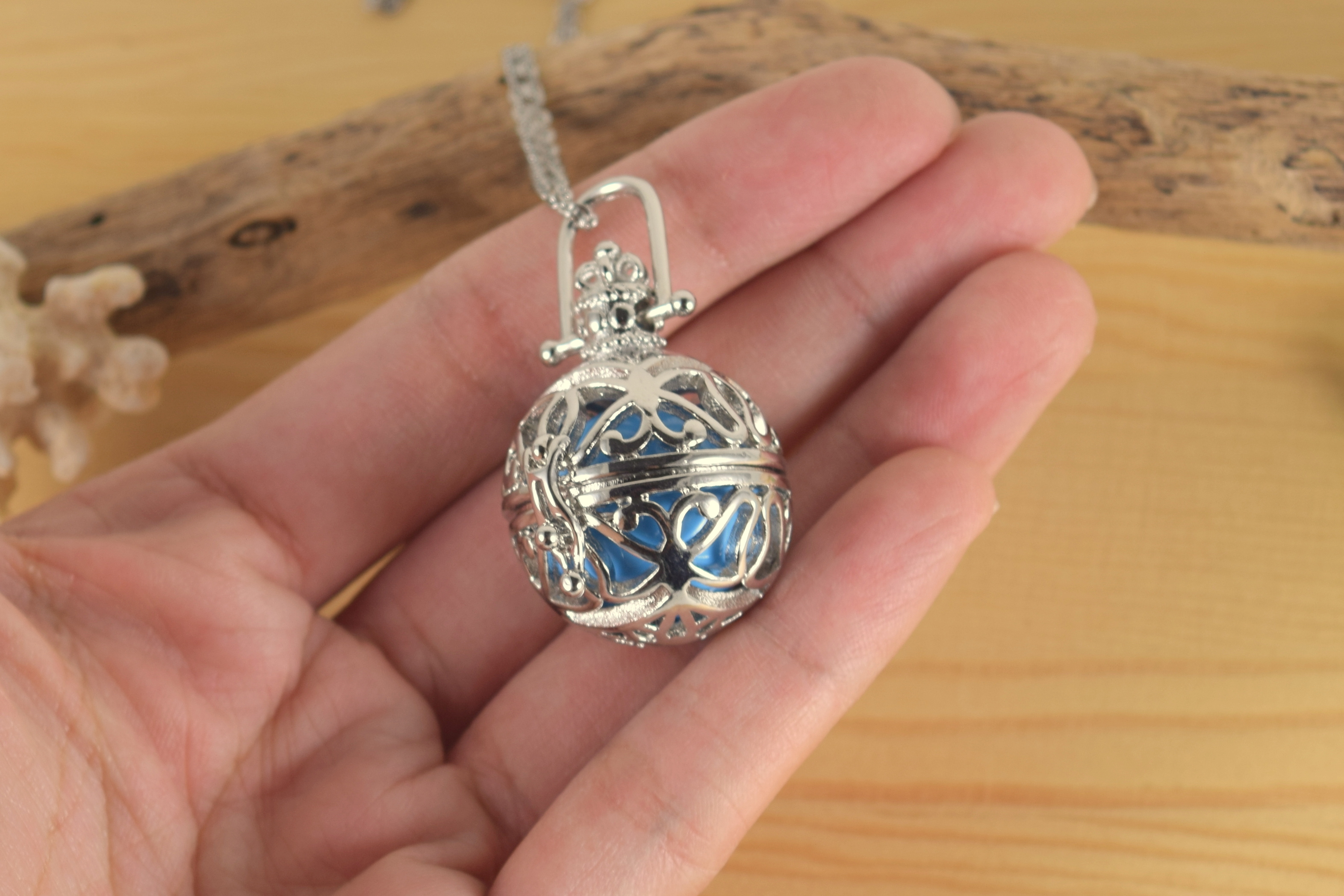 Silver musical ball necklace skinny pig designs silver musical ball necklace aloadofball Choice Image