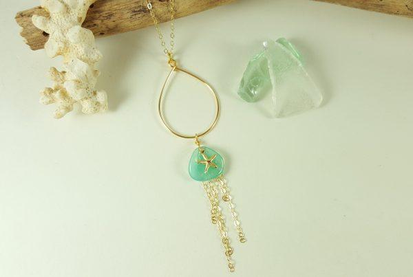 aqua-petal-gold-starfish-teardrop-necklace-2