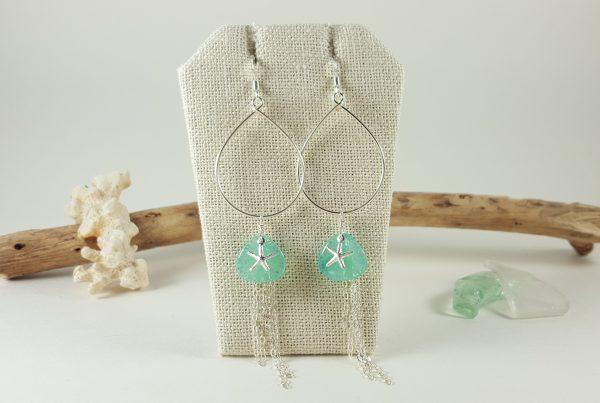 aqua-petal-silver-starfish-teardrop-earrings-1