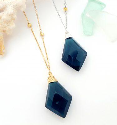 London blue necklace 2