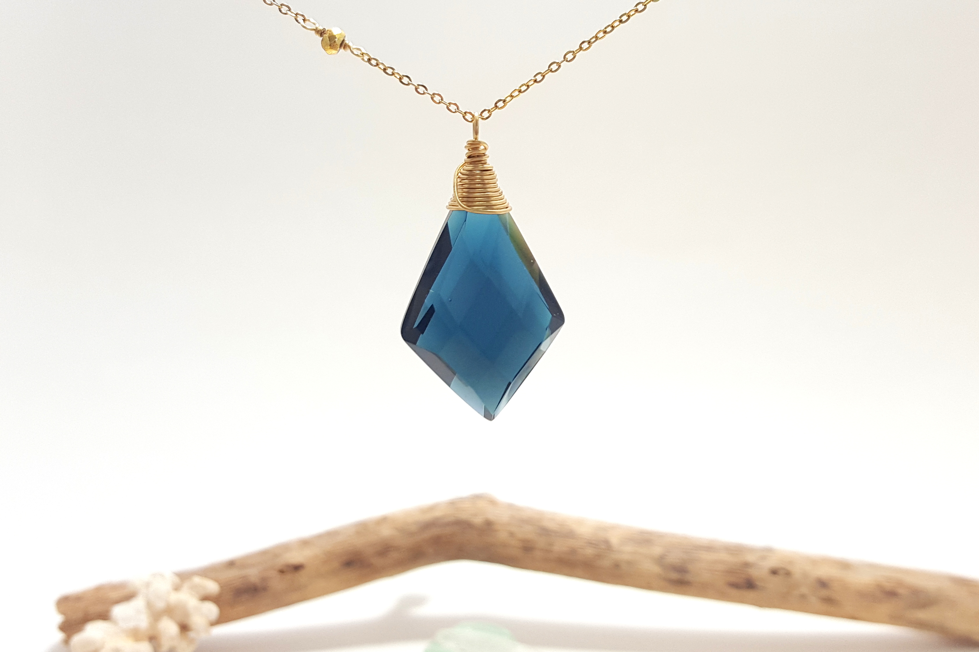 london cobalt glass pig skinny rhombus shop designs necklace blue