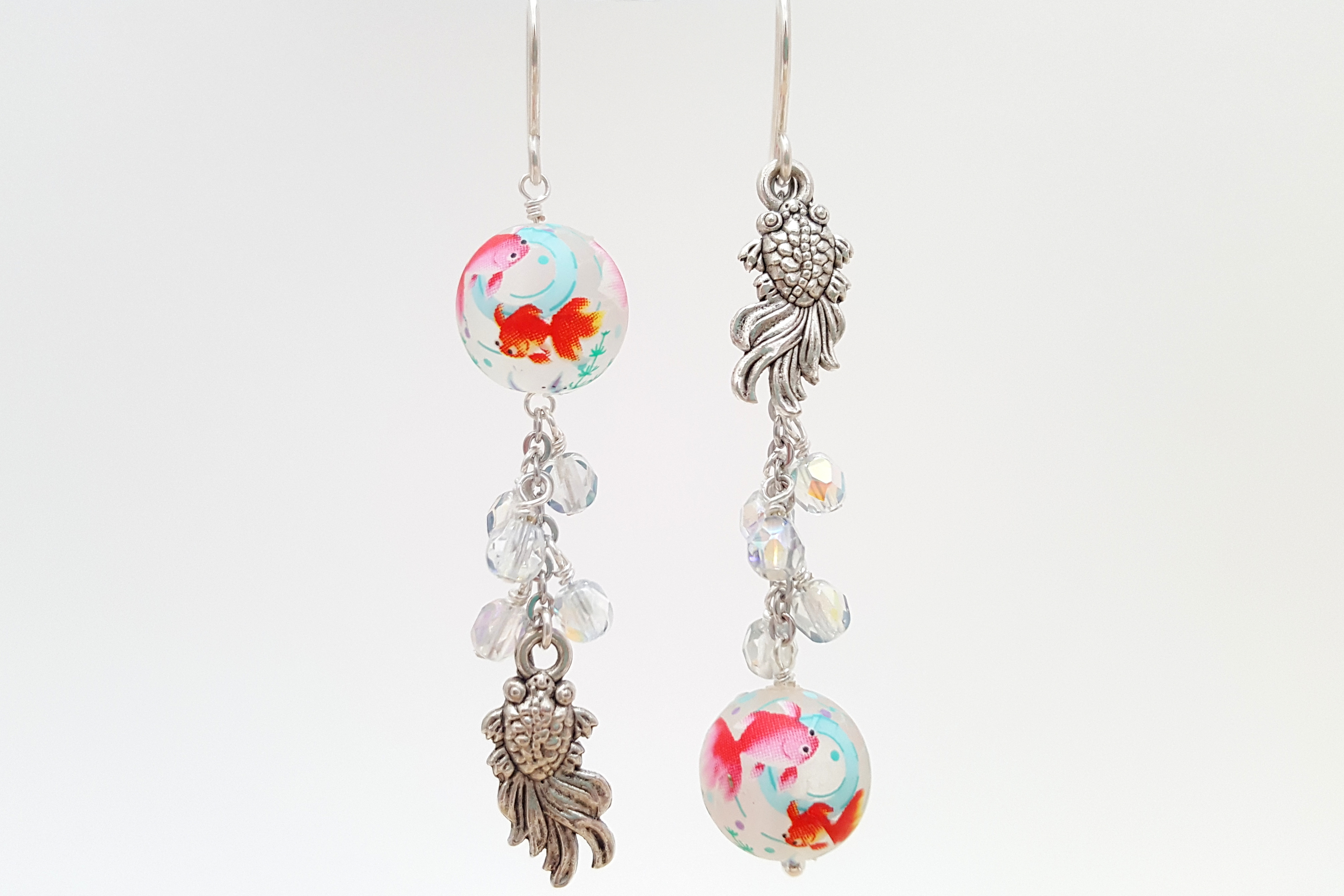 Goldfish Asymmetrical Earrings