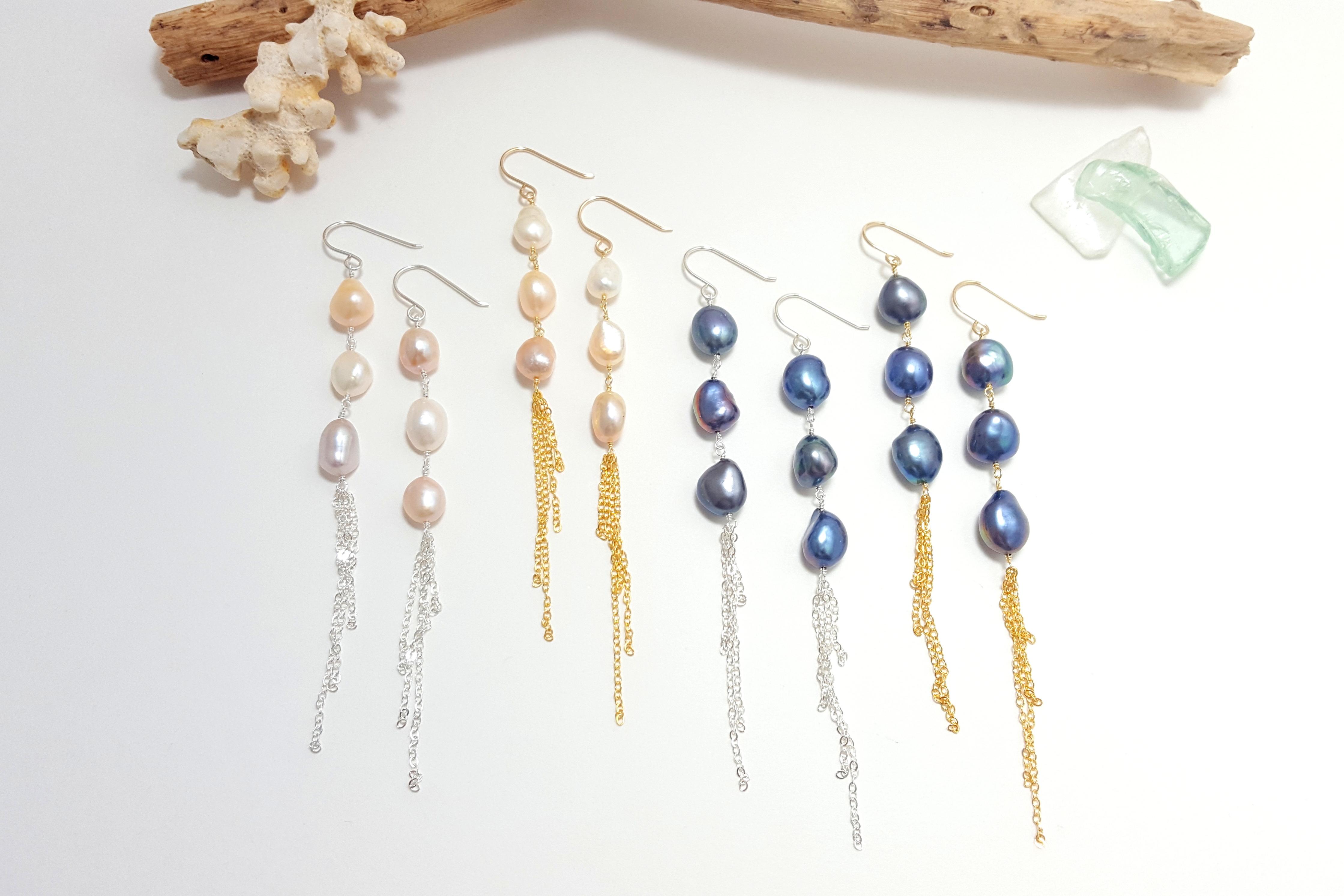 61dba8074a961 Baroque pearl tassel earrings